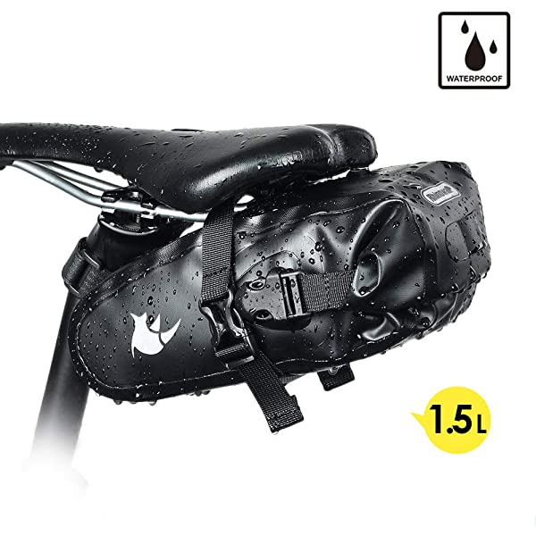Amazon.com: Roswheel 131363 Fully Waterproof Bike Saddle Bag ...