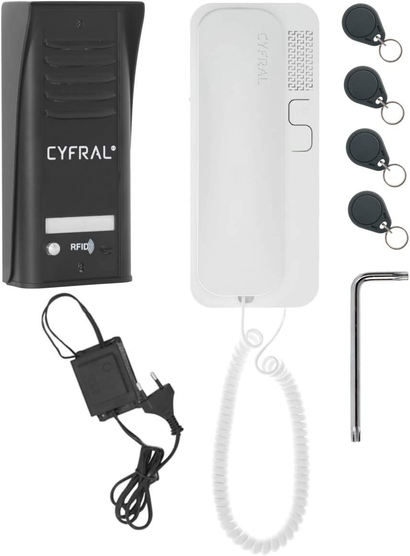 Juego para Una Familia RFID Lector Integrado cyfral 5905669169257/interfono para Puerta Cosmo R 1/con 2/de Alambre de Conector