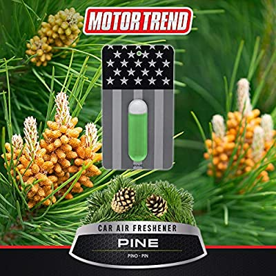 Motor Trend AF200PN Pine 1 Piece Black Flag Car Air Freshener – Long Lasting Odor Eliminator with Swiss Formula, Super Strength Deodorizer for Auto, Truck, Van and SUV: Automotive