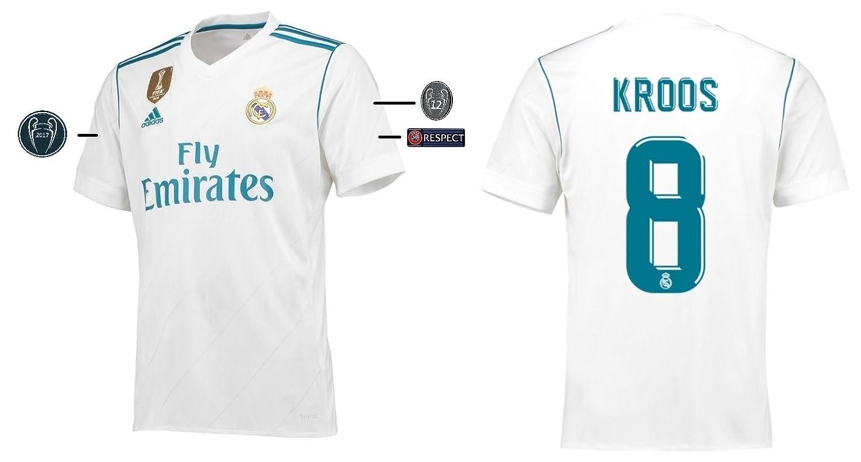 Trikot Kinder Real Madrid 2017-2018 Home UCL - Kroos 8