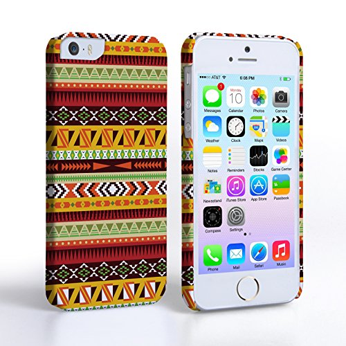 Caseflex iPhone 5 / 5S Case Multicolour Aztec Earthy Hard Cover