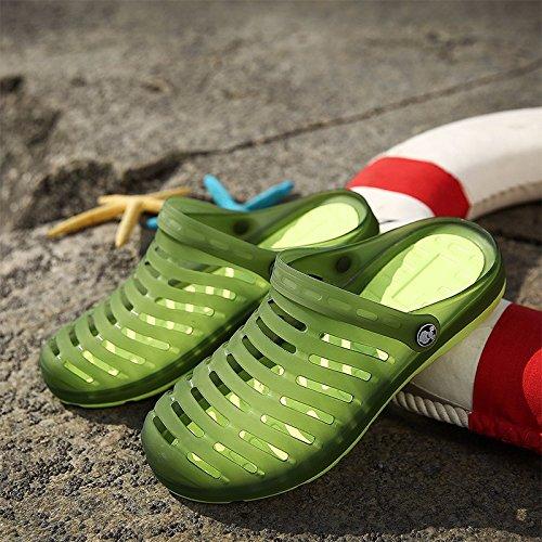 Buco scarpa Uomini sandali estate traspirante sandali Uomini Tempo libero scarpa quotidiano Tempo libero sandali alunno Spiaggia scarpa Uomini ,verde,US=9,UK=8.5,EU=42 2/3,CN=44