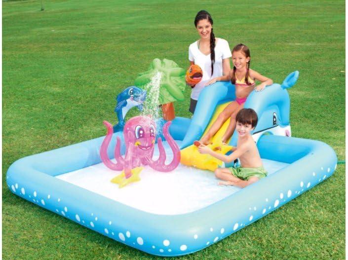 Bestway Piscina Aquarium 239 x 206 x 86 cm, diseño de juguete ...