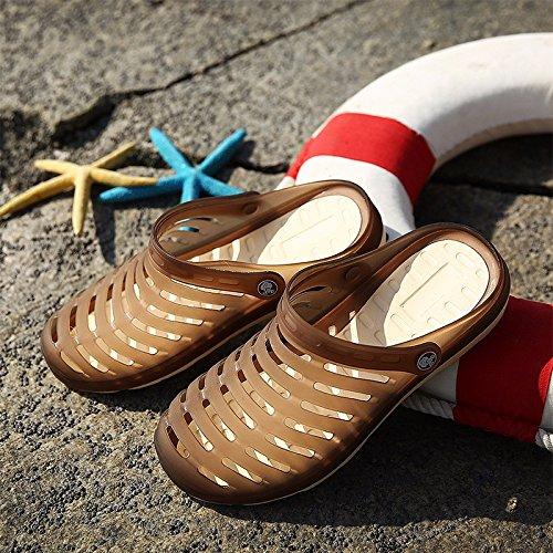 Loch Schuh Männer Sandalen Sommer Atmungsaktiv Sandalen Männer Freizeit Schuh Täglich Freizeit Sandalen Schüler Strand Schuh Männer ,braun ,US=7,UK=6.5,EU=40,CN=40