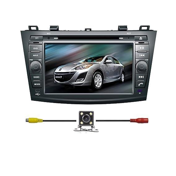 Amazon Bluelotus Indash 8\u201d Car Dvd Gps Navigation For Mazda 3 Rhamazon: Mazda 3 2011 Radio Display At Elf-jo.com