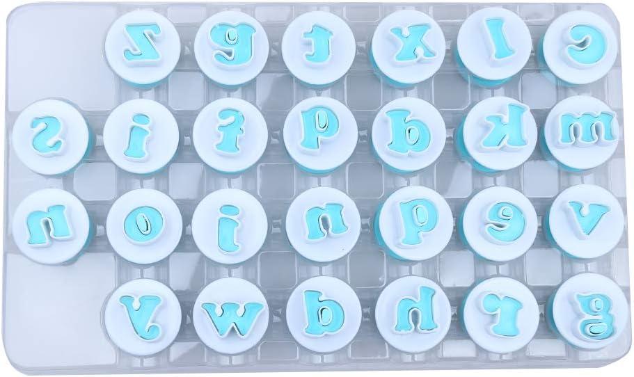 Tangger Moldes para Fondant Galletas con Letras y N/úmeros 41 PCS Las Letras May/úsculas Los Cortadores de N/úmeros y Los Moldes de Nubes se Pueden Usar para Hacer Decoraciones de Galletas