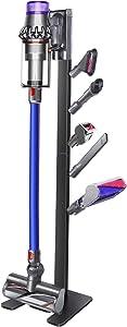 XIGOO Storage-Stand-Docking-Station-Holder for Dyson V11 V10 V8 V7 V6 Cordless Vacuum Cleaners & Accessories, Stable Metal Organizer Rack, Brushed Black