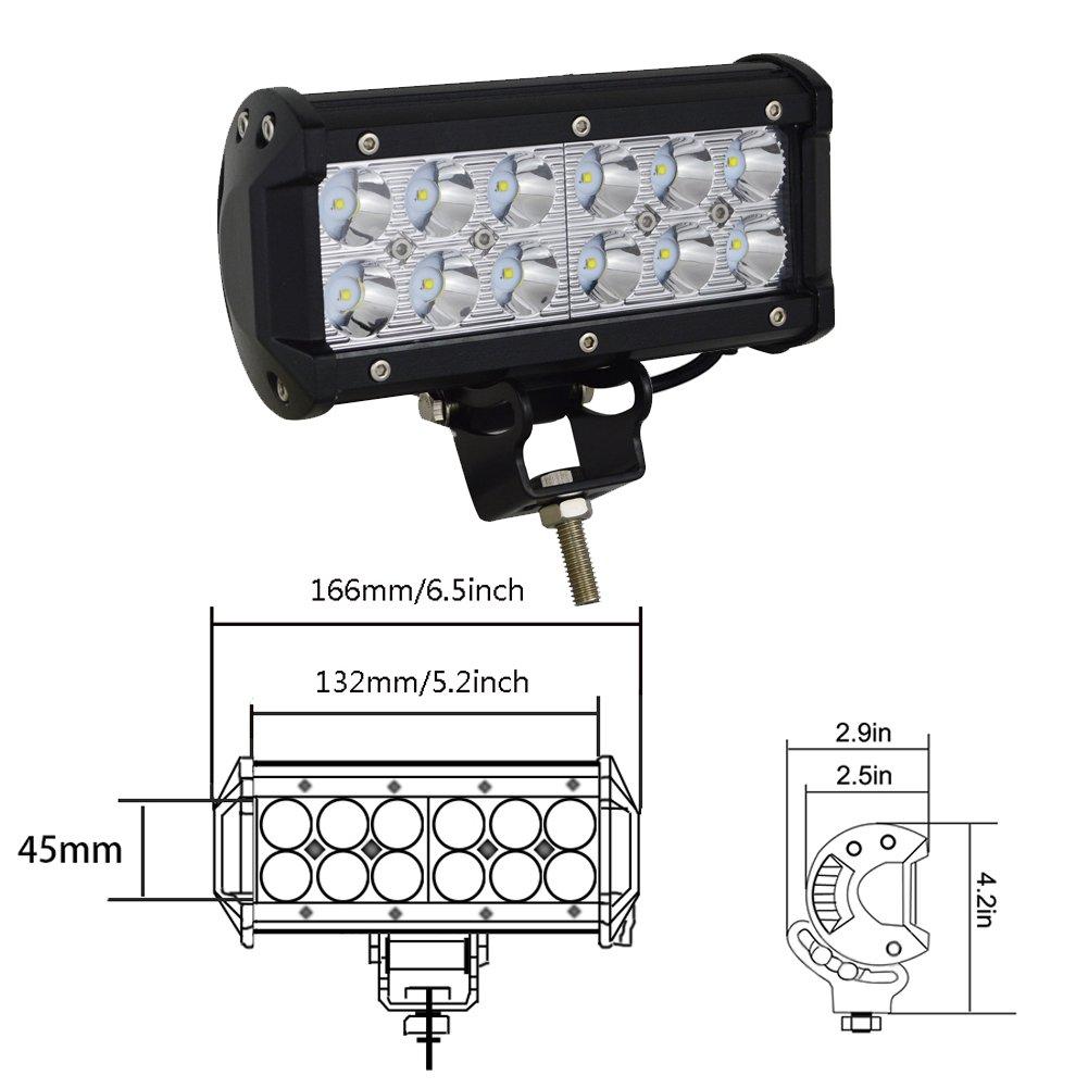 Auxtings 38cm 90W Spot LED-Arbeitsleuchte f/ür Fahrt oder Nebelscheinwerfer f/ür OffRoad LKW SUV und Allradfahrzeuge