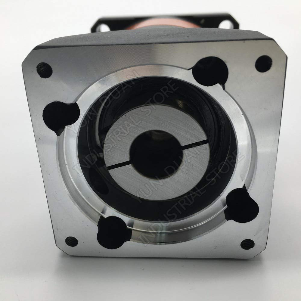 Fevas 5:1 Speed Ratio Flange 90mm 7Arcmin Planetary Gearbox 19MM 12.7MM 1//2 Input 6000rpm Reducer for 750W 1 KW Servo Motor CNC