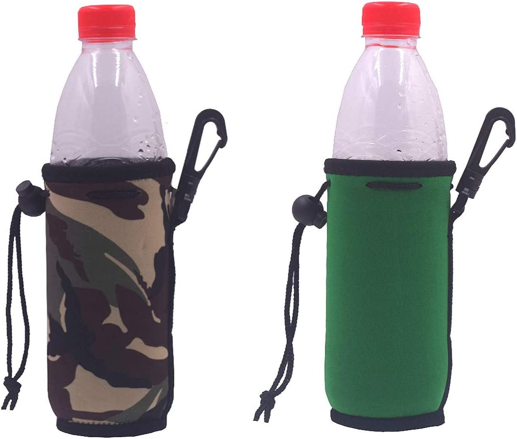 Lot of 4 Neoprene Insulated Bottle Covers Water Drink Holder Beer Cooler Green