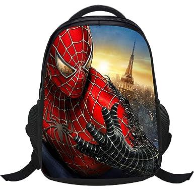 Mochila Escolar Para Niños Adolescentes Ligeros Mochilas 3D Spider-Man Para Niños Y Niñas Bolsas Escolares De 6-12 Años,Spiderman(A)-40 * 28 * 17cm: ...