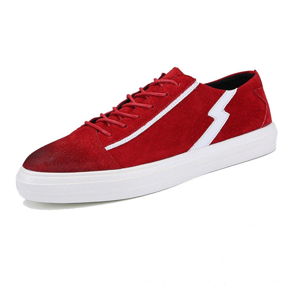 Unbekannt YIXINY Schuhe Turnschuhe Q837 Skateboard Schuhe Männlich Freizeit Weich Rutschfest Schwarz, Grau, Rot (Farbe   rot, größe   EU39 UK6 CN39)