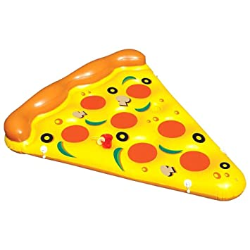 SHUCHANGLE Super Adultos Agua Flotantes Inflables Pizza Cama Flotante Cojín De Aire Deriva Flotadores De Natación: Amazon.es: Deportes y aire libre