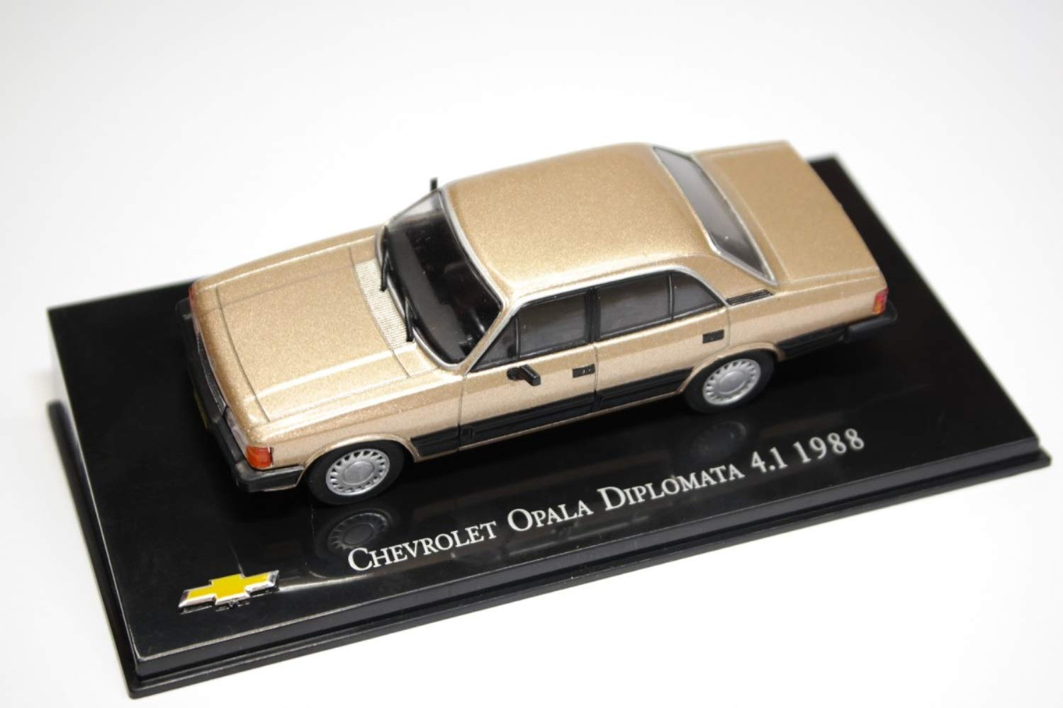 Chevrolet Opala Diplomata 4.1 Beige Metallic 1988 Year - Executive Car - 1/43 Scale Collectible Model Vehicle - Chevrolet Collection #18 by 1/43 AZEBUY - SEDANS