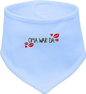 Angry Shirts Oma war da - Süßes Motiv mit Kussmund - Baby Halstuch