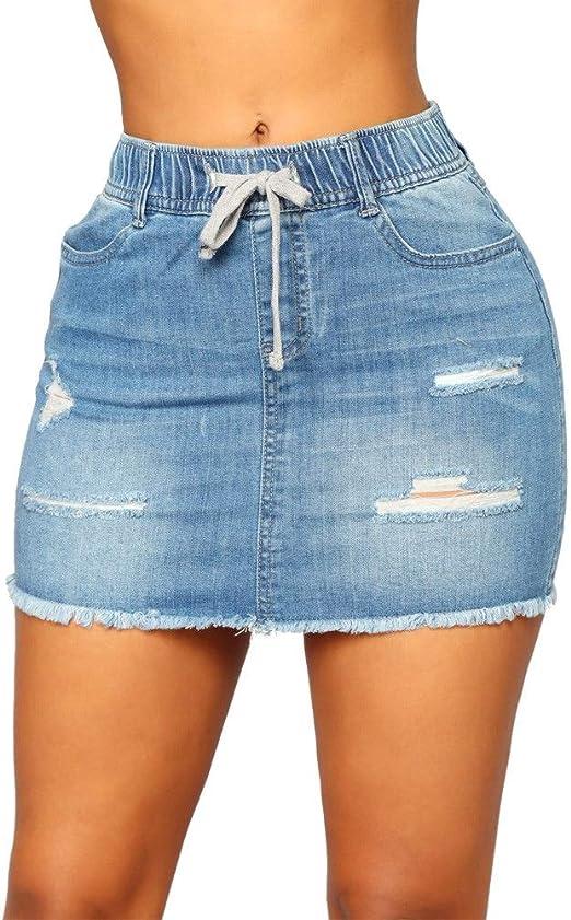 Minifaldas de cintura alta para mujer Partido de la moda de las ...