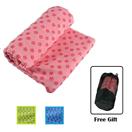 Amazon.com: Rabbit Company Microfiber Yoga Mat Towel -Non ...