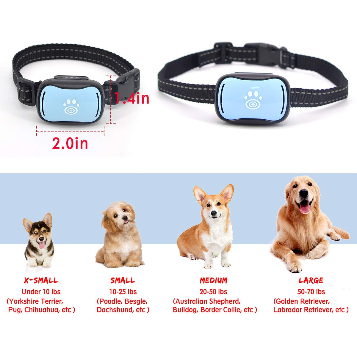 Amazon.com: 2019 Small Dog Bark Collar, Humane 7-Level ...