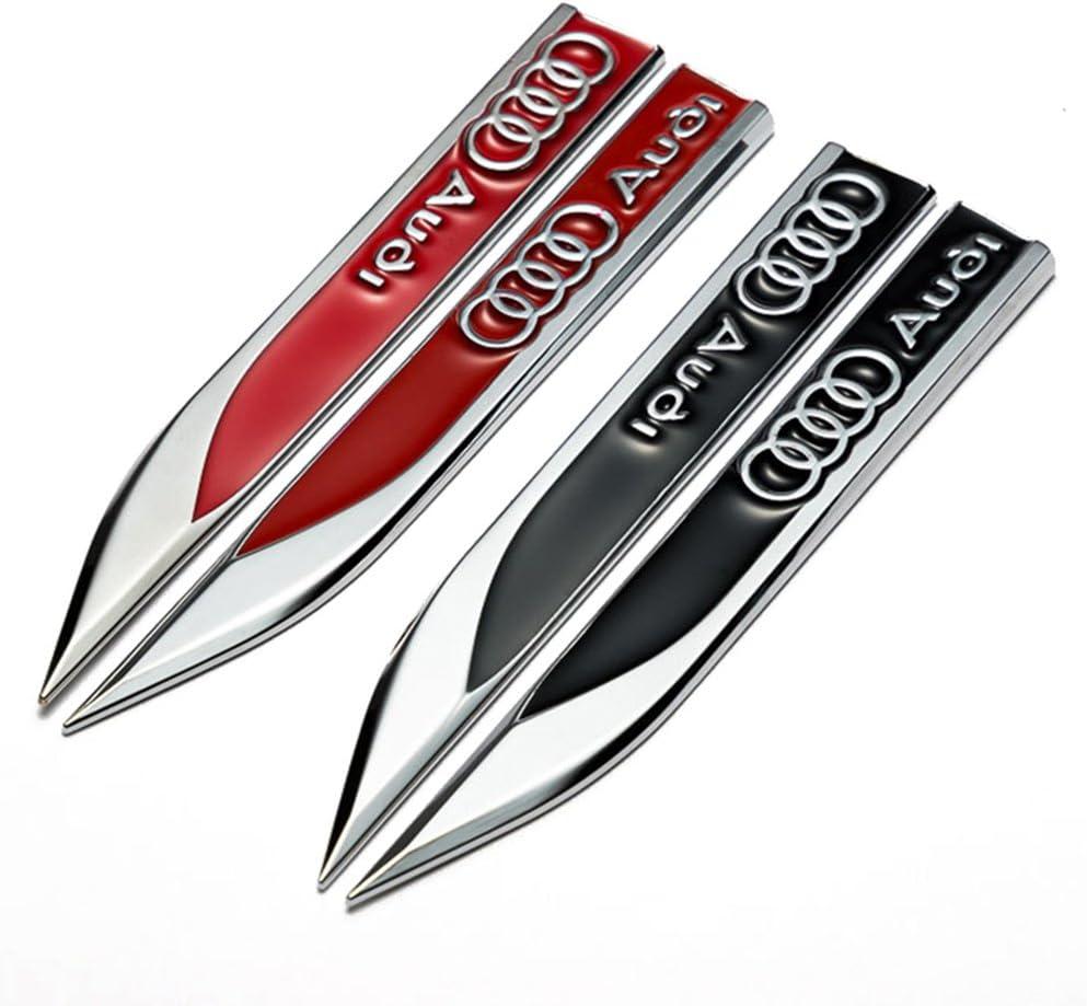 schwarz Wallner 1 Paar Metall 3D Refitted Fahrzeug Auto Marken Emblem Abzeichen Aufkleber Auto T/ür Fender Side Aufkleber