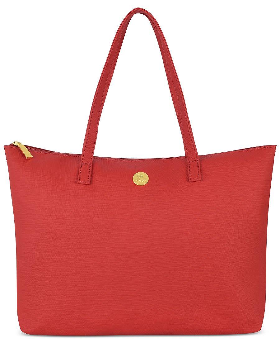 Joy Mangano Leather Tote, Red