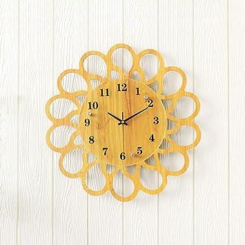 HUIJU Relojes de Pared Reloj de Pared Arte Mute Salón Decoración Niño Reloj Relojes de Dibujos Animados Infantiles Bola (Color : Negro, Tamaño : 12pulg): ...