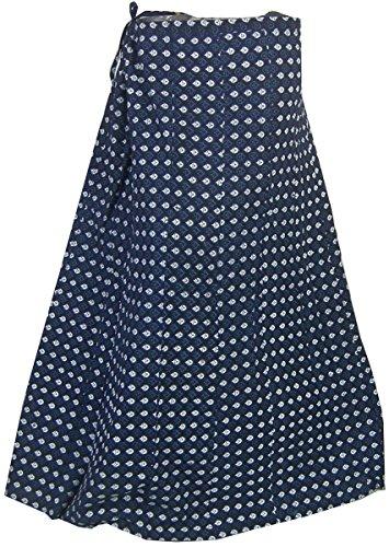 Imprim robes Inde Les Coton Vtements Bleu3 Jupe WSHnqABxw1