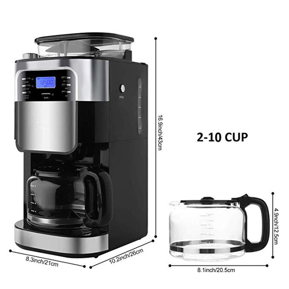 Amazon.com: JINRU Molinillo y cafetera automática, con ...