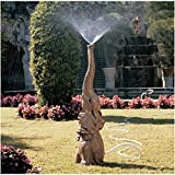 Design Toscano Tiny the Elephant Lawn Sculpture and Garden Sprinkler