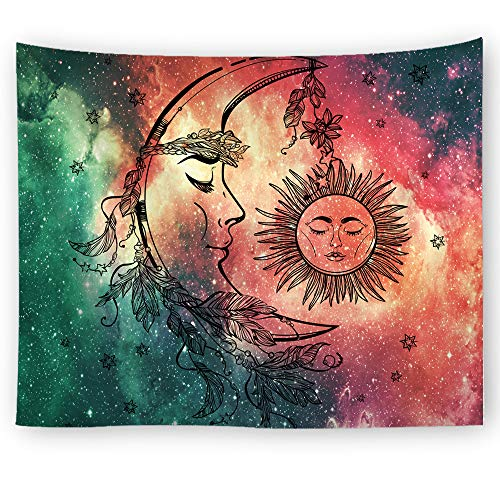 PHNAM Bohemian Colorful Dream Catcher Tapestry 59 × 79 Inches Large Wall Hanging for Bedroom Living Room Decor -