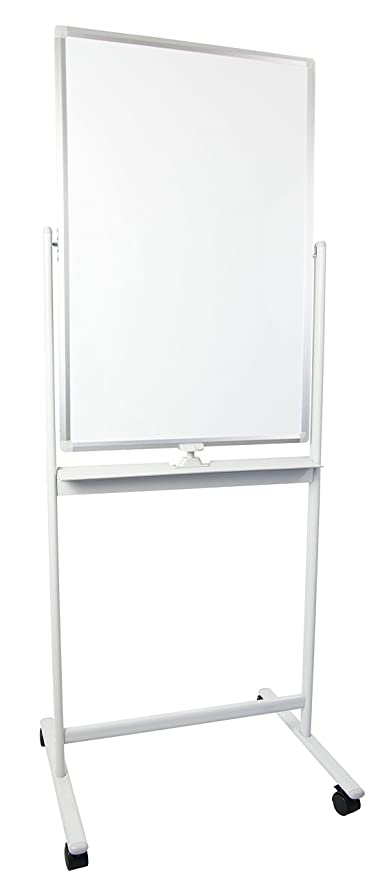 Vivo Mobile Dry Erase Board 24 X 36 Inches Double Sided Magnetic Whiteboard Rolling Stand With Aluminum Frame Cart Wb24a