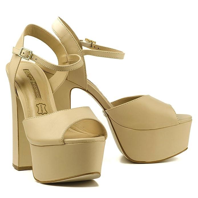 Buffalo Damen Sandalen High Heels ZS 4729-14 Blockabsatz Platform Plateau  Leder: Amazon.de: Schuhe & Handtaschen