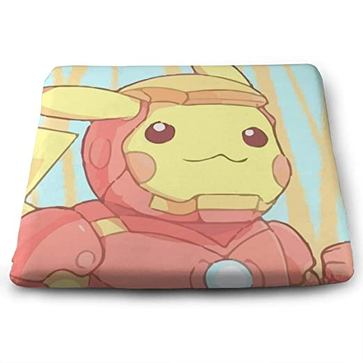 YYYYYA Cojín Cuadrado de Espuma viscoelástica Pikachu Iron ...
