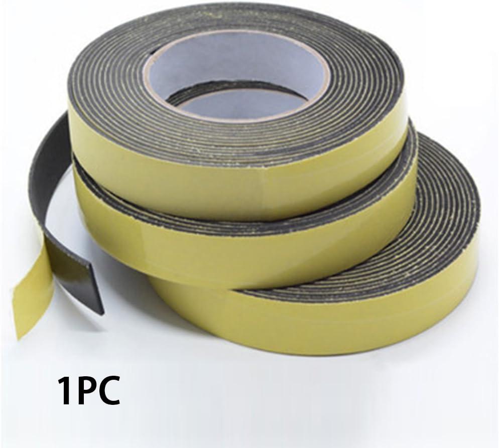 WERTAZ Cinta de Espuma Cinta Impermeable para el Clima Nuevo Adhesivo o de Puerta de un Solo Lado Tira de Goma 3mm 10mm 5m