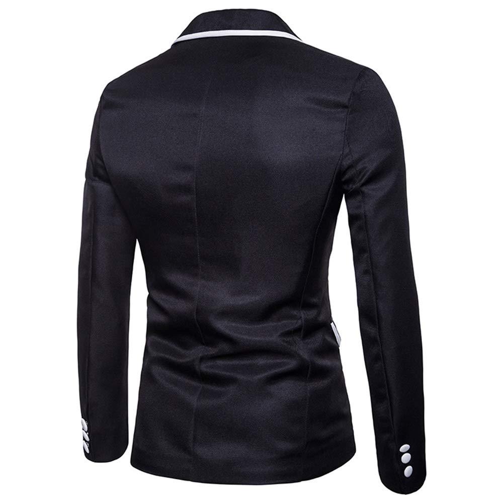 Ymysfit Homme Costume de Mariage Veste Cadeau Formel Un Bouton Costume Slim Fit Blanc Noir Style Blouson Veston