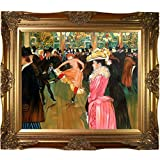 "20"" X 24"" Oil Painting On Canvas Toulouse-Lautrec's evolving style shows elements of several different artistic disciplines. At the Moulin Rouge, The Dance circa 1895 is a portrait of the nineteenth century Parisian lifestyle. The blurred lines of th..."
