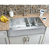 Hahn Chef Series Handmade Extra Large 60/40 Notched Farmhouse Kitchen Sink