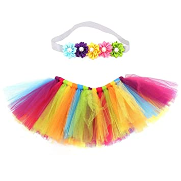 aca97361d8 Baby Pettiskirt Rainbow Tutu Skirt, Infant Toddler Girls Photo Studio  Layered Colorful Tutu Ruffle Tiered