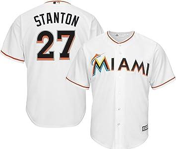 timeless design 62b5e 5eabd Amazon.com : VF Miami Marlins MLB Mens Majestic Giancarlo ...
