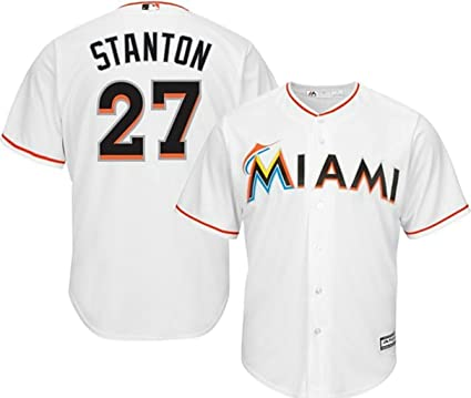 3226049c063 VF Miami Marlins MLB Mens Majestic Giancarlo Stanton Cool Base Replica  Player Jersey White Big