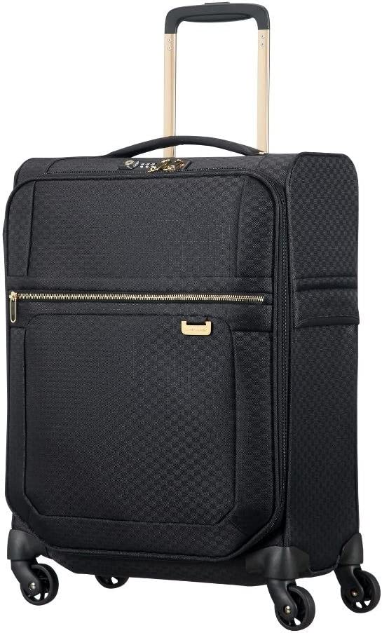 SAMSONITE Uplite - Spinner 55-20 Expandible 1.8 kg Koffer, 55 cm, 43.5 L, Negro (Black/Gold)