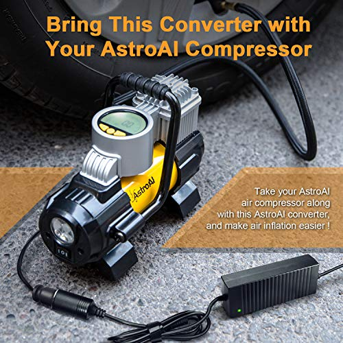 AstroAI AC to DC Converter, 10A 120W 110-220V to 12V Car Cigarette Lighter Socket AC DC Power Supply Adapter for Air Compressor Tire Inflator and Other 12V Devices Under 120W, Black by AstroAI (Image #5)