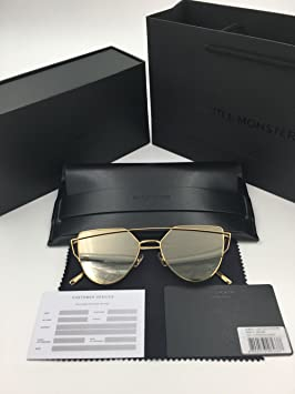 6a914735e Gentle Monster Love Punch Titanium Fashion Sunglasses Gold Frame Silver  Mirrored Lenses With Original Package Sets, Boxing - Amazon Canada