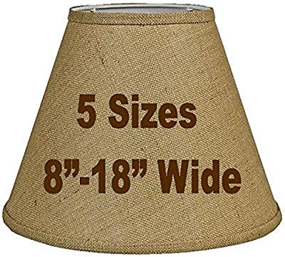 """Tapered Burlap Lamp Shade Sizes 8-18""""W Vintage Rustic Country Industrial Primitive Table & Floor Lamps"""