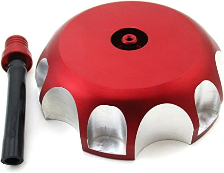 ZJTG AUTOMOTIVE Billet Gas Fuel Tank Cap Cover For HONDA CR85 CR100 CR125 CR250 Red 00-10