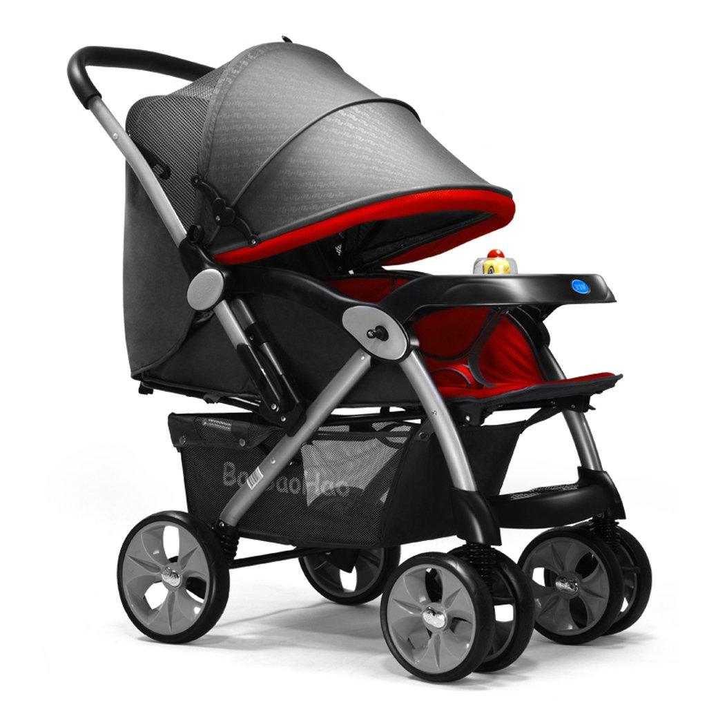 赤ちゃんのベビーカーライト折りたたみ式ベビーカーはリクライニングチルドレン(赤)を座らせることができます83 * 58 * 105センチメートル B07BTWL87S
