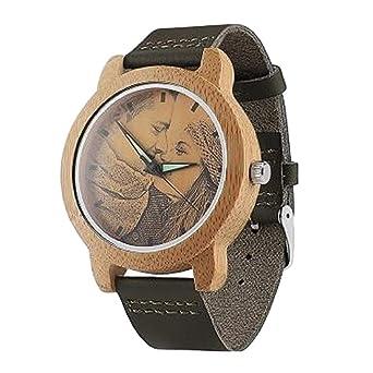 Foto Texto Reloj Traje Personalizado para Hombres Mujeres Doble ...