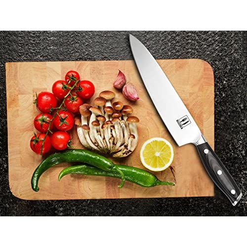 Allezola Professional Chef's Knife, 7.5 Inch German High Carbon Stainless Steel, Very Sharp, Balanced Comfortable Handle, Multipurpose Top Kitchen Knife for Home and Restaurant