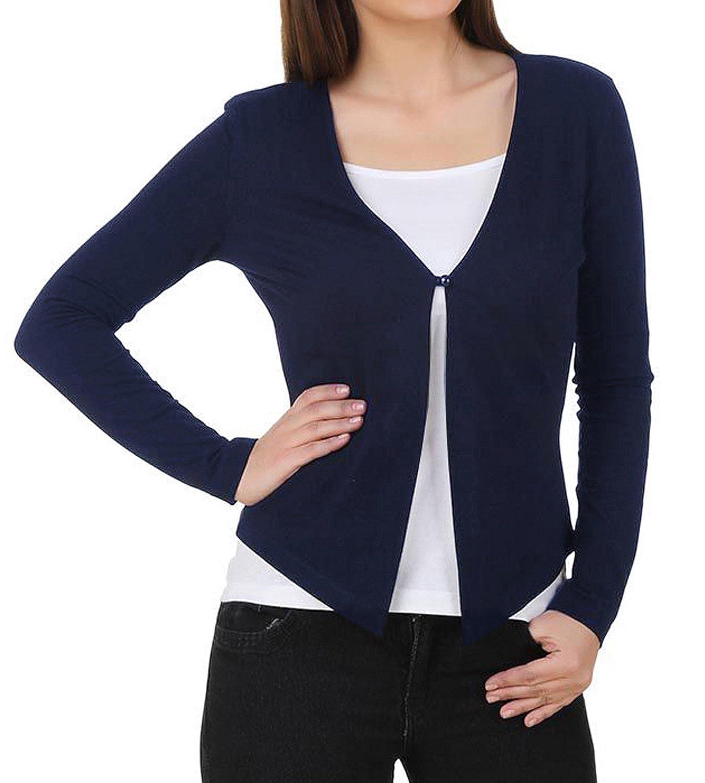 Navy bluee GRACE KARIN Women's Long Sleeve Cardigans One Button VNeck Knit Cardigan