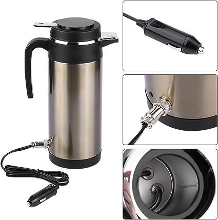 Hervidor de agua eléctrico para coche, 1200 ml, 12 V/24 V, acero ...