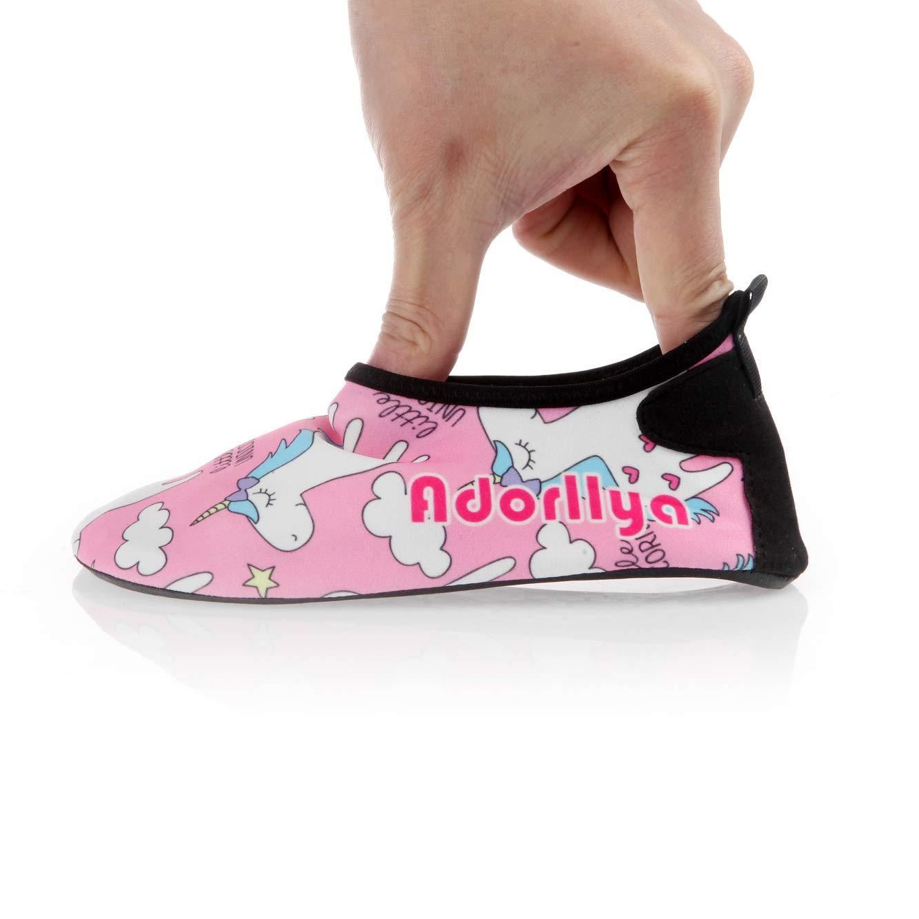 Adorllya Water Shoes Aqua Socks Water Socks Swim Shoes for Kids Toddlers Boys Girls